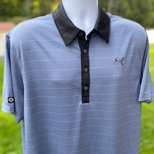 Stunning *Puma* wicking casual golf polo shirt - L